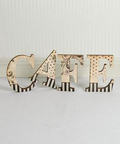 Take a look at this 'Cafe' Standing Letter Blocks by Adams & Co. on #zulily today!