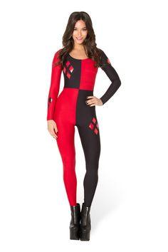 Harley Quinn Catsuit › Black Milk Clothing $115.00 Halloween next year???