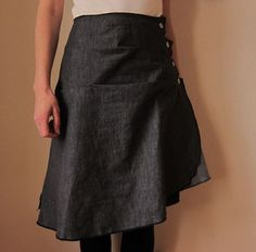Asymmetrical skirt - pattern deconstructed, totally awesome