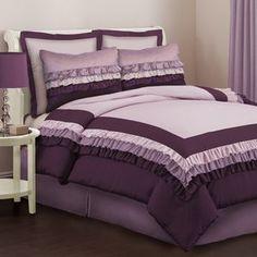Lush Decor Starlet Juvy Comforter Set in Purple