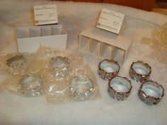 Vintage Set of 8 Wellington Silver Plated Napkin Rings International Silver Co.