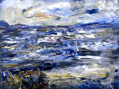 Jack Butler Yeats (irlandais) Queen Maeve Walked upon this Strand (1950) Huile sur toile (92 x 122)