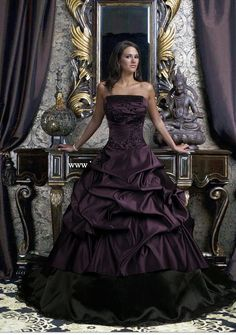 "Claims to be a ""goth"" wedding dress  Just beautiful!"