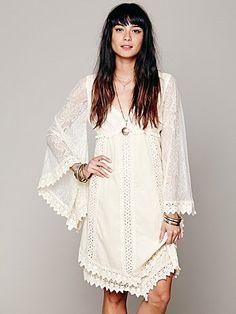 Nightingale Dress-this would look great with a flower 'halo' and out in a forest or field! #freepeople