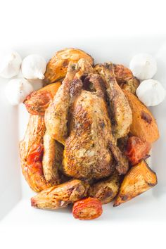 roast chicken recipe - foodiedelicious.com