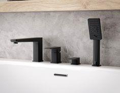 Czarna bateria nawannowa Omnires PM7432BL #omnires #przebudowadomu #projektowaniewnetrz #bateria #projektowaniewnetrz #faucet #baterialazienkowa #projektowaniewnetrzkrakow #modernbathroom #projektowaniewnetrzbydgoszcz #warszawa #bathroomstyling #bohointerior Parma, Bathroom Faucets, Sink, Easy, Home Decor, Products, Bath Taps, Sink Tops, Vessel Sink
