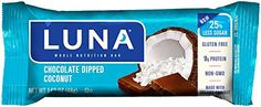 LUNA BAR  Gluten Free Bar  Chocolate Dipped Coconut  169 Ounce Snack Bar 15 Count >>> You can get more details by clicking on the image. (This is an affiliate link and I receive a commission for the sales)