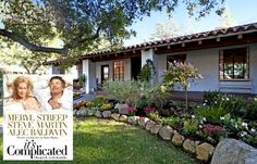 """It's Complicated Spanish ranch for sale - obsessed with this movie """"house"""" - lots of great photos"""