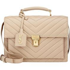 Saint Laurent High School Medium Saddle Bag (154.725 RUB) ❤ liked on Polyvore featuring bags, handbags, bolsas, borse, accessories, purses, nude, handle handbags, saddle bag purse and yves saint laurent