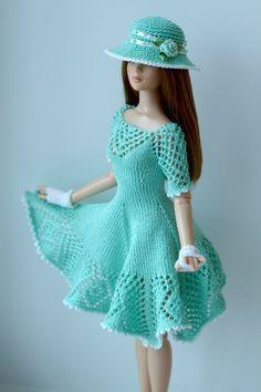 Resultado de imagem para vestido de croché para barbie