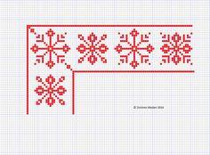 Snow Flake Cross Stitch Border #72