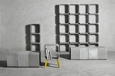 zhi and kou cement furnishings by bentu design - designboom | architecture