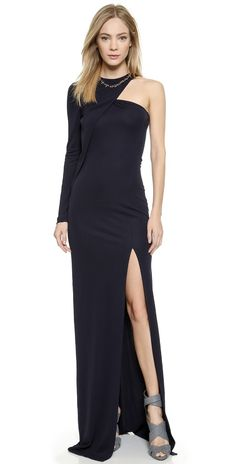 Cut25 by Yigal Azrouel One Shoulder Long Sleeve Gown | SHOPBOP