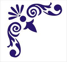 """Plantilles Stencil Corner Flourish No.3 6,5 signes """"x 6.5 Tall"""" signes de fusta coixins cabana"""