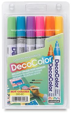 Deco Color Paint Pens - something I want to try for rock painting. Anyone know if these work? Pebble Painting, Pebble Art, Painting Tips, Stone Painting, Rock Painting, Stone Crafts, Rock Crafts, Hand Painted Rocks, Painted Stones