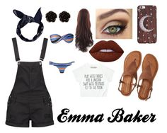 """""""Emma Baker"""" by luannamaia ❤ liked on Polyvore featuring Boohoo, Aéropostale, Erica Lyons and Lime Crime"""