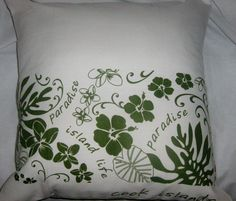 Cook Islands Cushion by gonevuku on Etsy, $40.00