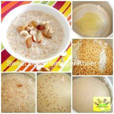 sweet broken wheat/ dalia recipe for babies, toddlers