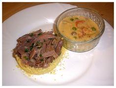 Sauce Crémeuse, Fine Dining, Cheeseburger Chowder, Hummus, Pork, Meat, Ethnic Recipes, Nouvel An, Palette
