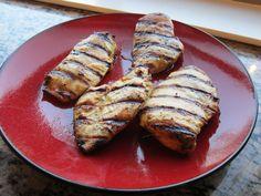 Grilled curry maple-mustard chicken