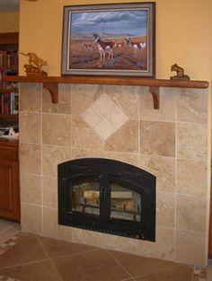 reface brick fireplace design