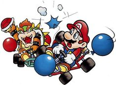 A collection of official artwork images from Super Mario Kart on the SNES including the main characters like Mario, Luigi, Bowser, Toad, Yoshi and Princess Toadstool and their karts. Mario Kart 8, Super Mario Kart, Super Mario Brothers, Mario And Luigi, Super Nintendo, Lion King Pictures, Super Mario World, Classic Video Games, Art Archive