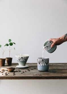 Handmade ceramic milk pourer from The Future Kept. Made in Scotland.