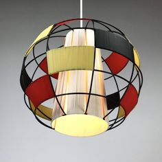 Beautiful string ceiling light from 1950s - Rockabilly midcentury light atomic age vintage lamp 50s design by Deerstedt on Etsy https://www.etsy.com/listing/531409034/beautiful-string-ceiling-light-from