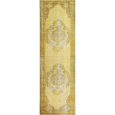 nuLOOM Vintage Inspired Fancy Overdyed Funky Yellow Runner Rug (2'8 x 8')