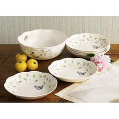 Lenox Butterfly Meadow 7-piece Pasta/ Salad Set - Overstock Shopping - Top Rated Lenox Specialty Sets
