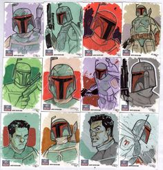 """STAR WARS Sketchcards - Boba Fett"" by Denis Medri"
