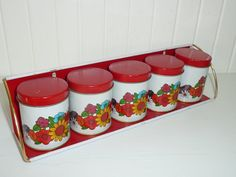 Vintage Spice Set Metal Spice Rack Shelf Five by NewLIfeVintageRVs, $32.00