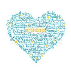 Grandma Word Cloud SVG cut file, mother's day cut file, mothers day gift, grandmother, heart word art, First Grandma SHIRT design by ScarlettRoseCuts on Etsy