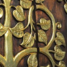 Relief Wandbild Teak Holz 90x90cm Thai Motiv