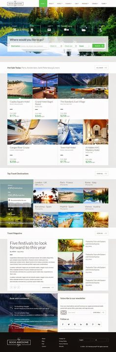 Beautifully Crafted Responsive #Travel Booking Site Template  #HTML5 #website #design