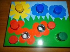 Jogos educativos para ensinar as cores às crianças - Motor Skills Activities, Toddler Learning Activities, Montessori Activities, Infant Activities, Kids Learning, Montessori Baby, Learning Letters, Educational Games For Kids, Learning Colors