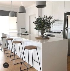 Com/Classy-Kitchen-Bar-Stools-Addition-To-Your-Kitchen/ black bar s Kitchen Remodel, Kitchen Benches, Kitchen Bar Stools, Home Decor Kitchen, Kitchen, Kitchen Interior, Classy Kitchen, Home Decor, Minimalist Kitchen
