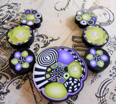 Polymer Clay Beads by TLS Clay Design by TLSClayDesign on Etsy, $13.99