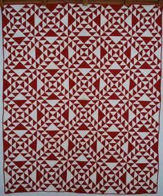 This is called Old Maid's Ramble or Double Triangle in BB Encyclopedia of Pieced Quilt Patterns.