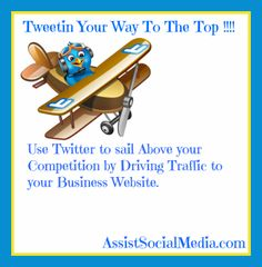 Use Twitter to drive traffic to your business blog! Via @Elizabeth L Maness #Twitter #SocialMedia #tips