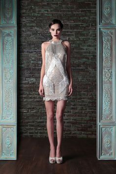 Hand Embroidered Lace Couture Dress