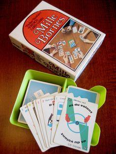 1970's Vintage Mille Bornes Card Game  Parker by RedDressHanger