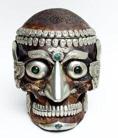 Tibetan Ritual Human Skull  photo © Nathan Roberts