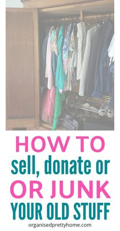 When you are cleaning out & organizing in your room, what do you do with your unwanted clutter? Check out how to stop feeling stuck and make decluttering easier.- Organised Pretty Home| Decluttering | Declutter | Clothes | Papers | donate | #declutter #declutteringideas #clutterfree #simplify #simpleliving #decluttering #organizing