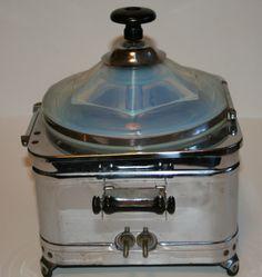 Fry glass Electric Popcorn Popper RARE 1930s