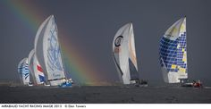 a rainbow at the start of the Nord Stream race in Germany: photo by Dan Towers