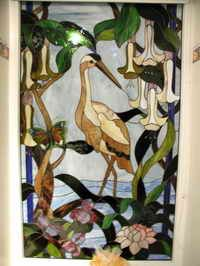 Stained glass. What a beautiful piece to hang in a window at the beach.