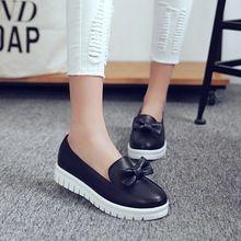 Primavera Otoño Ocasionales Suaves Zapatos de Los Planos de Las Mujeres blanco Negro rojo Señoras Del Dedo Del Pie redondo Resbalón En Holgazanes Embarazadas zapatos de plataforma plana mujer(China (Mainland))
