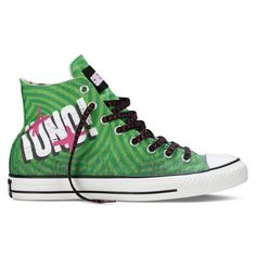Converse Drops Exclusive Green Day Track Chuck Taylor Shoe ❤ liked on Polyvore featuring shoes, sneakers and converse