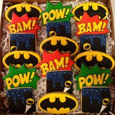 Batman cookies by Sara Belle's Bakery.